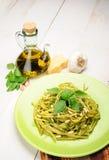 Linguine al Pesto Stock Photography