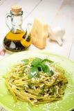 Linguine al Pesto Royalty Free Stock Image