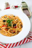 Linguine alla Puttanesca royalty free stock photography