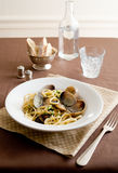 Linguine with clams Stock Image