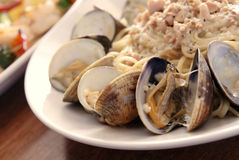 Linguine con Vongole Stock Photography