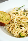 Linguine with Feta Cheese Royalty Free Stock Photography