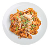 Linguine Pasta with Chicken Stock Photography