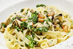 Linguine pasta Stock Photo