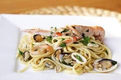Linguine seafood Stock Photo