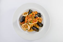 Linguine seafood Royalty Free Stock Photo