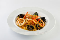 Linguine seafood Stock Images