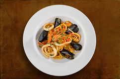 Linguine seafood Stock Photo