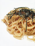 Linguine in white sauce with roe Royalty Free Stock Photos