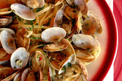 Linguini and clams Stock Photo
