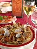 Linguini and clams Stock Images