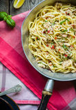Linguini with Clams Royalty Free Stock Photos