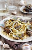 Linguini with clams royalty free stock images