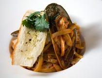 Linguini-marinara Lizenzfreie Stockfotos