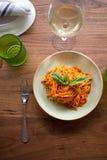 Linguini Marinara. Fresh made marinara sauce accompanied by linguini pasta Stock Photography