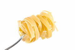 Linguini pasta on a fork Stock Photos