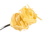 Linguini pasta on a fork Stock Photography