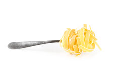 Linguini pasta on a fork Stock Image