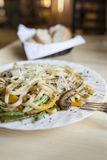 Linguini with vegetables Royalty Free Stock Photo