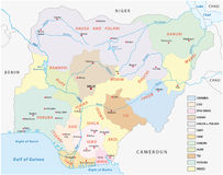 Lingustic mapa Nigeria royalty ilustracja