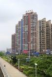 Lingxiujinjiang più famoso del bene immobile della città di Longhai Fotografie Stock Libere da Diritti