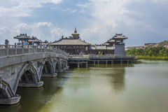 Lingyan Temple outside Yungang Grottoes Royalty Free Stock Photos