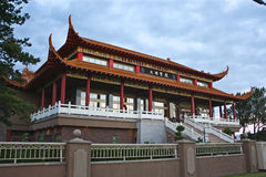 The Lingyen Mountain temple in dusk Royalty Free Stock Images