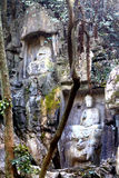 Lingyin temple klippe buddhist grottoes statues Stock Photography
