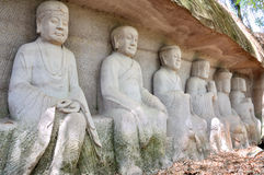 Lingyun Mountain Grottoes Stock Photos