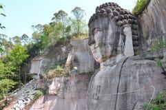 Lingyunshan ο γιγαντιαίος Βούδας στοκ εικόνες