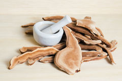 Lingzhi mushroom, Chinese traditional medicine, Ganoderma Lucidu. Dried lingzhi mushroom (Also called as Reishi mushroom in Japan, Lingcheu in Thailand, Lingzhi Royalty Free Stock Photo