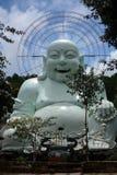 Linh пагода с большим счастливым Буддой Стоковые Фото