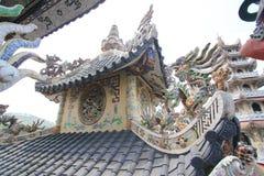 Linh Phuoc塔在大叻市 免版税库存图片