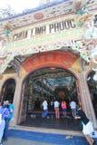 Linh Phuoc塔在大叻市 免版税图库摄影