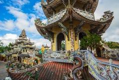 Linh Phuoc pagoda at Da Lat City, Vietnam. Stock Photography