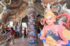 Linh Phuoc Pagoda i Da-Lat Arkivbilder