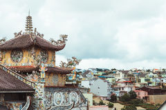 Linh Phuoc Pagoda no Lat da Dinamarca, Vietname Imagens de Stock Royalty Free