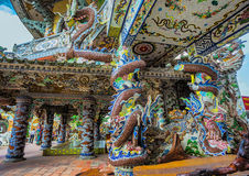 Linh Phuoc pagoda przy Da Lat miastem, Wietnam obrazy stock