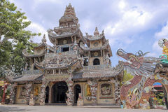 Linh Phuoc Pagoda, Vietnam, Dalat, aprile 2016 Immagini Stock Libere da Diritti
