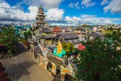 Linh Phuoc-Pagode an der DA-Lat-Stadt, Vietnam stockfoto
