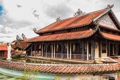 Linh Phuoc porcelain glass Pagoda in Da Lat, Vietnam Royalty Free Stock Image