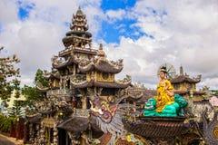 Linh Phuoc porcelain glass Pagoda in Da Lat, Vietnam. Linh Phuoc Pagoda in Da Lat, Vietnam. Dalat`s famous landmark, buddhist porcelain glass temple. Linh Phuoc stock photography