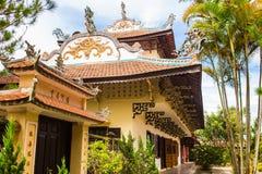 Linh Son Pagoda in Da Lat, Vietnam. Dalat`s famous landmark, buddhist temple. Colorful horizontal image royalty free stock photos