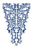 Linha étnica bordado do pescoço da onda Decoração para a roupa imagem de stock royalty free