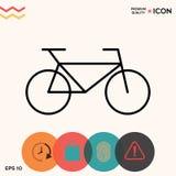 Linha ícone da bicicleta Imagens de Stock Royalty Free