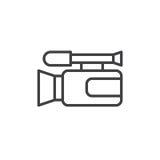 Linha ícone da câmara de vídeo ilustração do vetor