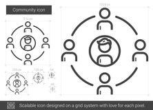 Linha ícone da comunidade ilustração stock