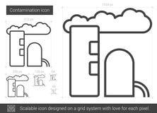 Linha ícone da contaminação ilustração royalty free