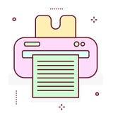 Linha ícone da impressora Fotografia de Stock