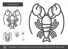 Linha ícone da lagosta Fotografia de Stock